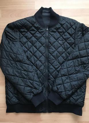 Курточка бомбер двухсторонний новый оригинал найк чёрный