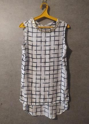 Удлинённая блуза женская