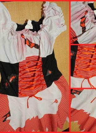 Карнавальное платье на хэллоуин l-xl костюм сукня хелловін