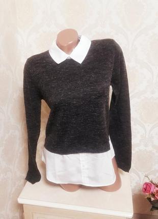 Стильный офисный  свитер h&m