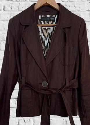 Стильный льняной пиджак, next