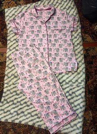 Женская хлопковая пижама tu