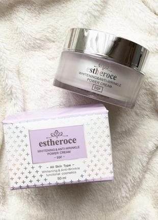Омолаживающий крем для лица deoproce estheroce whitening and anti-wrinkle power cream