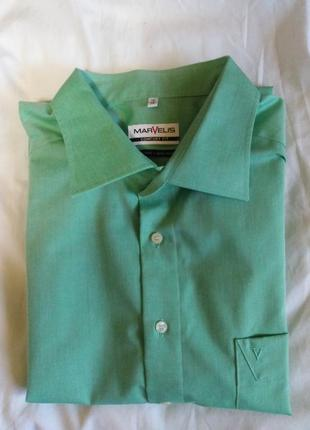 Рубашка marvelis ( non iron/не требующая глажки) германия, оригинал. размер 56-58.