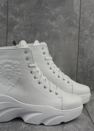 Новые женские зимние белые кожаные ботинки с 36-40