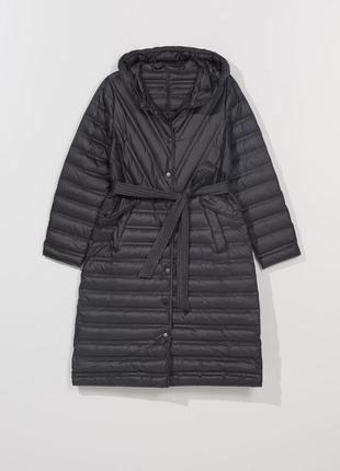 Лёгкий пуховик пальто с капюшоном xxs-l