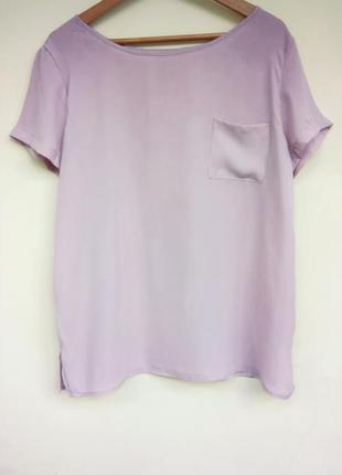 Красивая блуза, футболка на лето кофейного цвета от hema