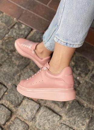 Модные розовые женские кроссовки ✨кеды alexander mcqueen /александр макквин✨