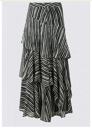Шикарная шифоновая юбка макси.