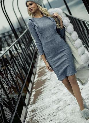 Плаття , платье в рубчик