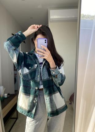 Тёплая курточка рубашка