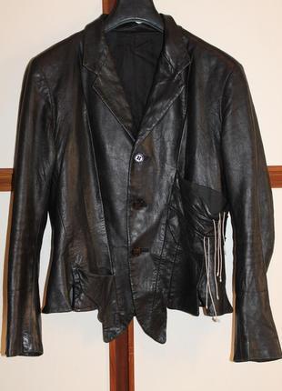 Yohji yamamoto женский кожаный пиджак