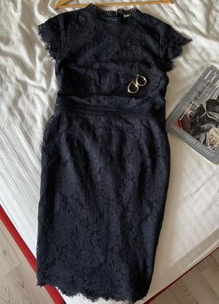 Миди платье кружево