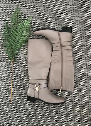 Итальянские кожаные сапоги, размер 39,5