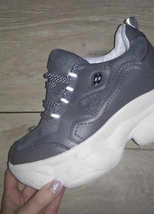 Сникерсы спортивные ботинки  🍁 полуботинки осенние  деми танкетка