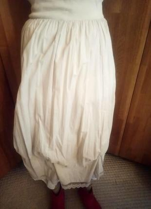 Легчайшая летняя юбка с подъюбником в бохо стиле rainbow