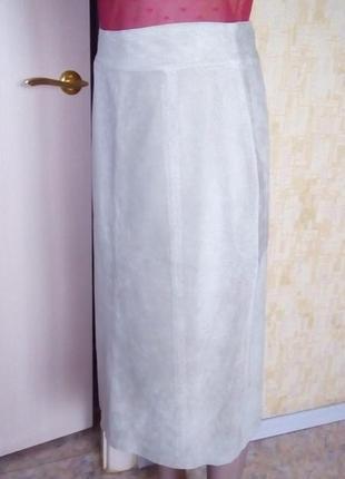 Шикарная замшевая юбка с перфорацией/юбка кожаная/юбка/кожаная юбка