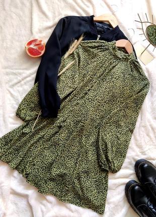 Красивое хлопковое платье свободного кроя от h&m
