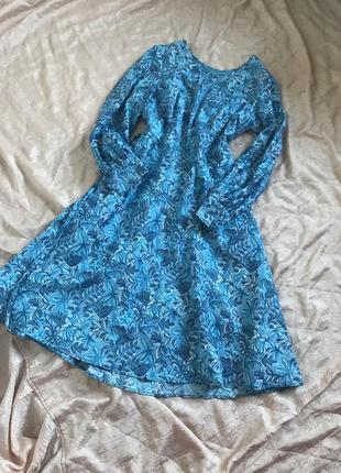 Платье миди с пышной юбкой , 100% вискоза