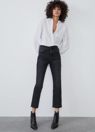 Прямые джинсы mom fit zara  на болтах