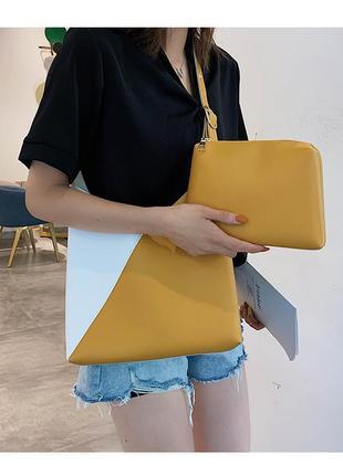 Новая стильная сумка с косметичкой внутри