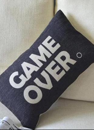 Игра закончена 30х50 декоративная наволочка чехол для подушки
