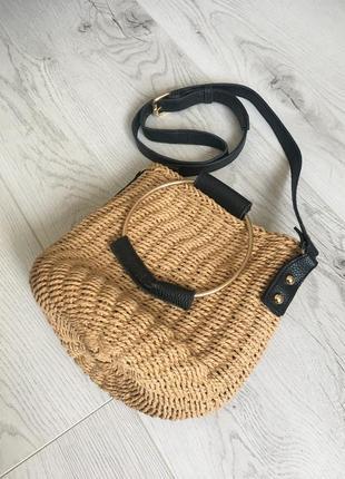Соломенная сумка bershka