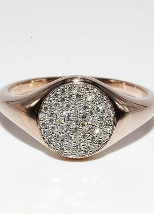 Золотое кольцо 585 проба бриллианты 0.35 ct размер 17.25