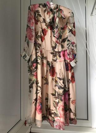 Шёлковое платье итальянского бренда