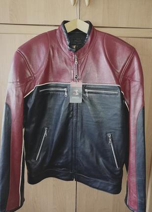 Мужская кожаная куртка arbex, мото-куртка