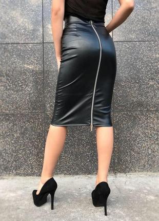 Юбка карандаш под кожу кожаная юбка