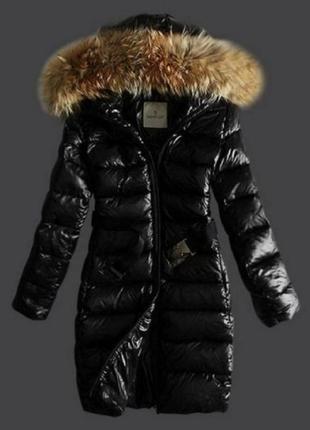 Фирменный пуховик пальто moncler