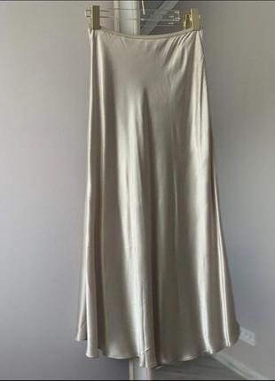 Сатиновая юбка zara
