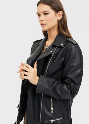 Куртка oversize stradivarius в biker style
