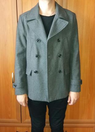Пальто, бушлат h&m (57% шерсть)