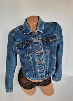 Брендовый укороченный джынсовый пиджачок