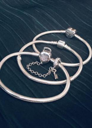Браслет серебро стиль pandora розмір 17,18,19