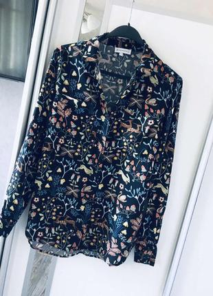 Красивенная рубашка в цветочный принт