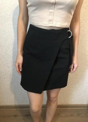 Новая чёрная юбка с высокой посадкой modis