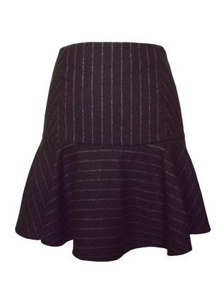 Теплая классическая юбка lindex с добавкой шерсти