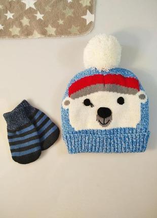 Набір шапка і рукавички