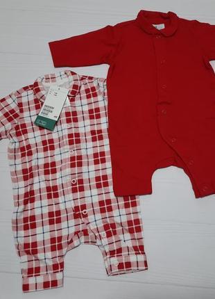 Набор слипов человечков пижамок hm 1-2 2-4 мес