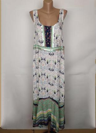 Платье новое натуральное красивое в орнамент uk 16/44/xl