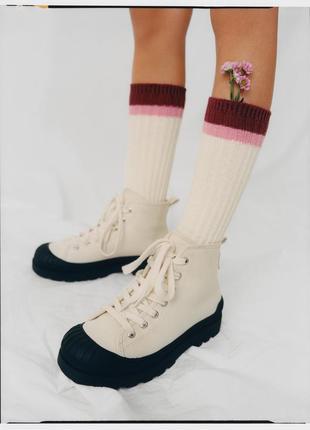 Ботинки утеплённые zara р.34