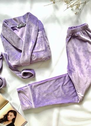 Велюровая пижама