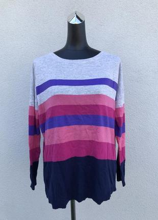 Реглан в полоску светр свитер кофта в складі шерсть