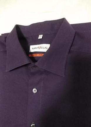 Рубашка marvelis ( non iron/не требующая глажки) германия, оригинал. размер xxl/3xxl
