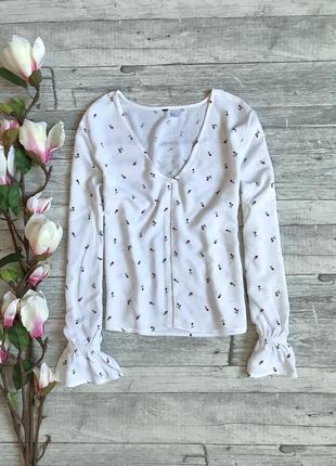 Невероятно красивая блуза из натуральной ткани h&m