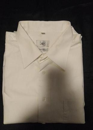 Фирменная белая рубашка 100% cotton xxl / ворот 45/46