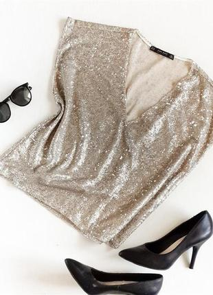 Блуза в блестках в пайетки zara